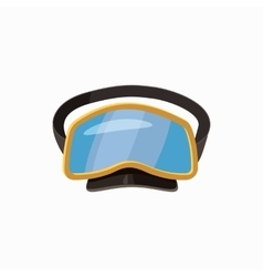 Diving mask icon cartoon style vector image