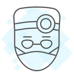 doctor thin line icon stomatology and dentist vector image