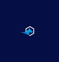 dog logo icon technology vector image