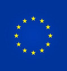 european flag eu stars in circle euro union vector image
