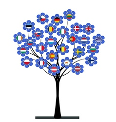 European Union tree vector image