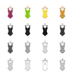fashionable women s swimsuit different kinds of vector image