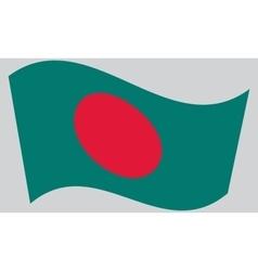 Flag of Bangladesh waving vector image