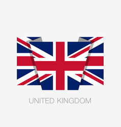 Flag of united kingdom flat icon waving flag with vector