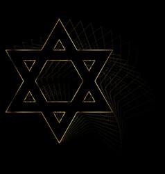 golden star of david vector image