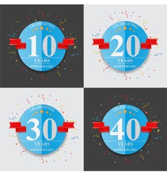 Happy anniversary celebration on folded paper sign vector image