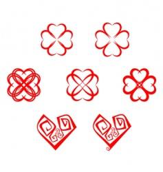 heart symbols vector image