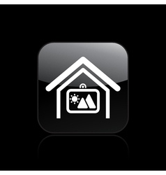 home square icon vector image