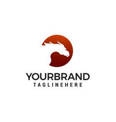 horse logo design concept template vector image