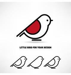 Little bird icon vector