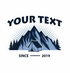 logo mountain adventure camping template vector image