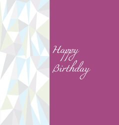 Low poly birthday card vector