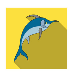 marlin fish icon in flat style isolated on white vector image