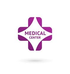Medical center logo icon design template vector