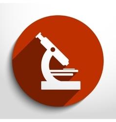 microscope web icon vector image