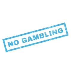 No gambling rubber stamp vector