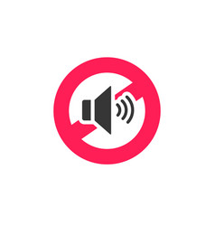 no sound sign icon noise vector image
