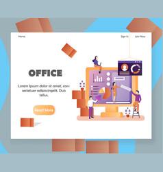 office website landing page design template vector image