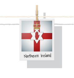 photo of northern ireland flag vector image