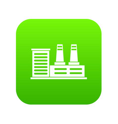 power plant icon digital green vector image