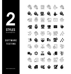 simple line icons software testing vector image