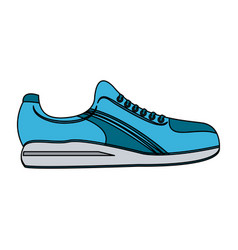 single sneaker sport shoe icon image vector image