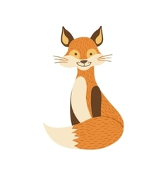 Smiling Fox Sitting Like Cat vector