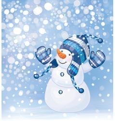 snowman snow vector image