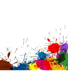 Splatter Paint Background vector image