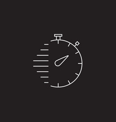 stopwatch line icon outline sign vector image