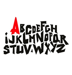 Straight lines comic graffiti font alphabet vector
