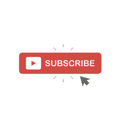 Subscribe button web symbol in flat style vector
