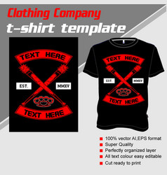 T-shirt template fully editable with cross vector