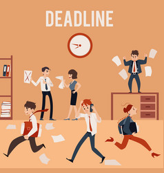 The concept office deadline and chaos vector