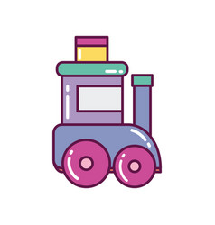 toy wagon train decoration merry christmas icon vector image