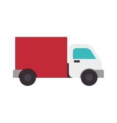 Truck cargo delivery vector