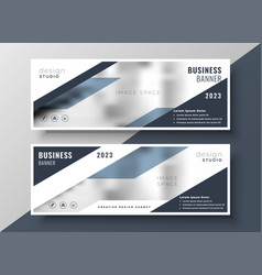 Two corporate professional business banners design vector