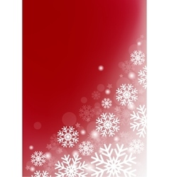vinous background with snowflakes vector image