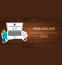 Visa online visa application document for travel vector