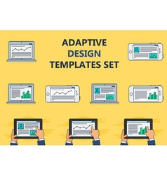 Web Template of Adaptive Site or Article Form vector image