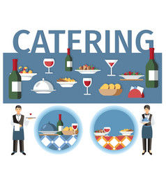 Wedding catering services word concept banner vector