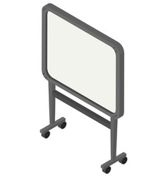 Whiteboard with wheels on white background vector