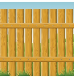 Wooden fence seamless vector