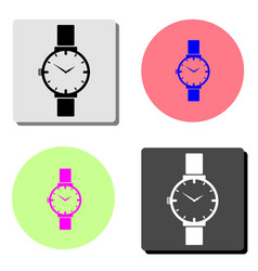 wristwatch flat icon vector image