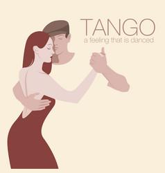 Young couple dancing tango-02 vector