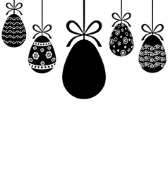 egg hanging vector image vector image