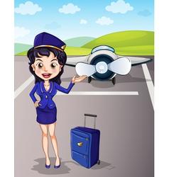Flight attendant vector image vector image