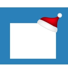 Hat of Santa Claus with a blank banner vector image vector image