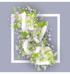 Love Word Made Of Chamomile Or Daisy Flowers And vector image vector image