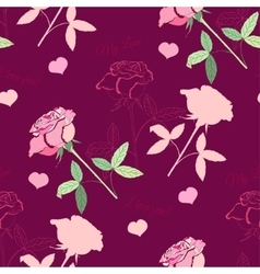 Seamless pattern with pink rose114 vector image